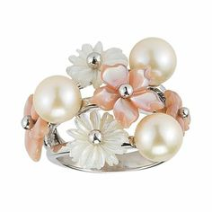 White Cultured Freshwater Pearl & Mother-of-Pearl Ring - jcpenney