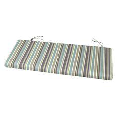Cushion Source 45 X 17 5 In Striped Sunbrella Bench Glider