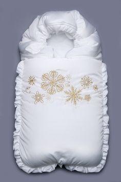 Конверт зимний на синтепоне  Цвет: белый (другие варианты цвета:розовый, голубой)