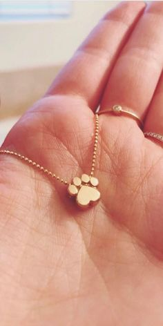 What a delightful and dainty gold pendant necklace with a dog paw print pendant. Dainty Jewelry, Gold Filled Jewelry, Cute Jewelry, Sterling Silver Jewelry, Gold Jewelry, Jewelry Accessories, Jewelry Design, Jewelry Necklaces, Accesorios Casual