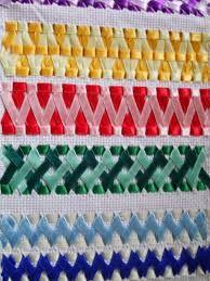 Image result for toalhas de trançado de fitas