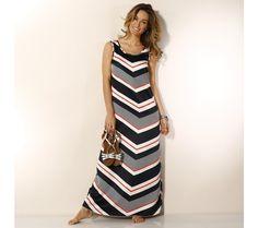 Dlouhé pruhované šaty | blancheporte.cz #blancheporte #blancheporteCZ #blancheporte_cz #dress #saty