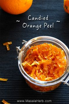 Candied Orange Peel Recipe DIY candied orange peel easily made from scratch at home. Learn how to make candied orange peel with the step by step recipe. Candied Orange Slices, Dried Orange Peel, Dried Orange Slices, Dried Oranges, Candied Fruit, Orange Recipes, Fruit Recipes, Cooking Recipes, Recipies
