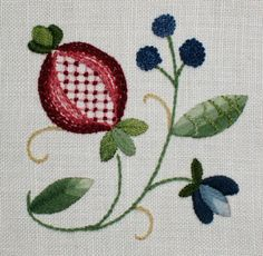 Pomegranate pattern, would make a beautiful challah cover