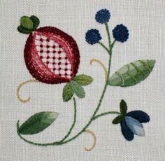 jacobean design | Jacobean Gem – traditional crewel embroidery