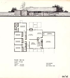1000 images about eichler mcm floorplans on pinterest for Eichler house plans