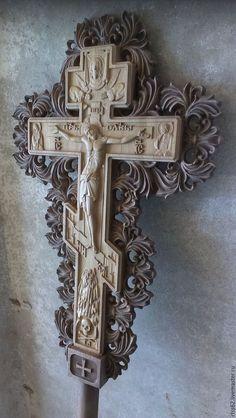 Иконы ручной работы. Ярмарка Мастеров - ручная работа. Купить Запрестольный крест. Handmade. Крест запрестольный