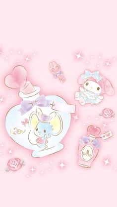 my melody 10 My Melody Wallpaper, Sanrio Wallpaper, Kawaii Wallpaper, Hello Kitty Wallpaper, Bear Wallpaper, Pink Wallpaper, Cartoon Wallpaper, Iphone Wallpaper, Merrie Melodies