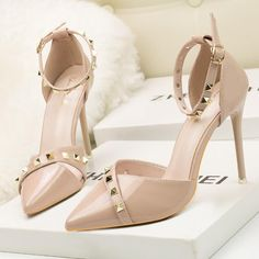 e239022d96ee Sexy Thin With Shallow Mouth high-heeled women Shoes Ankle Strap Heels