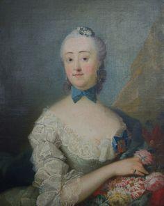 1755 Margrethe Holck Winterfeldt by Loechte
