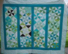 Lala's Lovelys Quilting: 2010.  Blues/greens - love it!