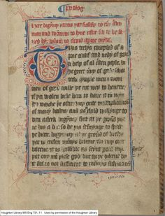A Brief Introduction to medieval manuscripts, scripts, and paleography