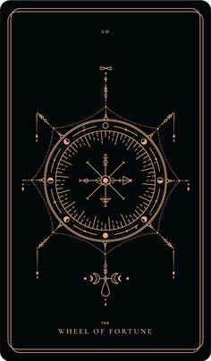 The Wheel Of Fortune – The Art of Tarot – Das Glücksrad – Die Kunst des Tarot – Wheel Of Fortune Tarot, Tarot Card Tattoo, Illustration Inspiration, Stampin Up Karten, Tarot Major Arcana, Oracle Cards, Book Of Shadows, Tarot Decks, Compass Tattoo