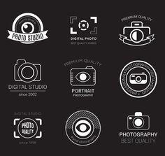 9 photography studio logo design vector material
