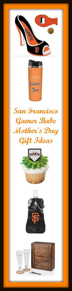 Dozens of cool gift ideas for SF Giants fans - Mother's Day for your favorite Gamer Babe. Glasses, signs, posters, cupcake decorations & more. Cupcake Decorations, San Francisco Giants, Dear Santa, Cool Gifts, Babe, Posters, Gift Ideas, Signs, Glasses