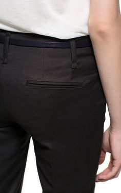 PANTALÓN ALGODÓN VUELTA BAJO - Pantalones - Mujer | ZARA España