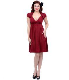 Burgundy Sparrow Lush Flare Dress #uniquevintage