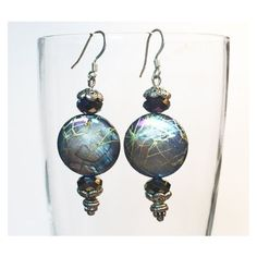 Purple Aurora Borealis Vintage Bead Earrings ❤ liked on Polyvore featuring jewelry and earrings