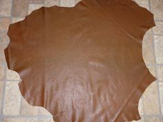 """Leather 33""""x31"""" Washed Shrunken finished Chocolate Lambskin Hide 7.5 sq ft  1.75-2.25 oz / .7-.9 mm PeggySueAlso #402"""