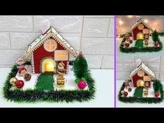 Christmas Showpiece making idea step by step  DIY Economical Christmas craft ideas - YouTube Christmas Table Centerpieces, Christmas Decorations, Holiday Decor, Crazy Genius, Christmas Crafts, Xmas, Gingerbread, Arts And Crafts, Craft Ideas