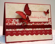 Stampin' Up You Are Loved with Sizzlits Butterflies