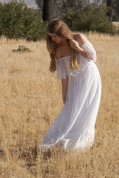 BohemianWedding Dresses Lace Ivory White Off by DaughtersOfSimone, $615.00