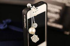 Big Mango Pretty Crystal Ball Chain the Latest Fashionable 3.5mm Headphone Ja...   eBay