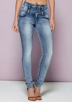 S & P By Standards & Practices Santana High Waist Skinny Jean