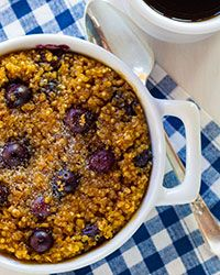 Blueberry Baked Quinoa and Oatmeal Recipe on Food & Wine