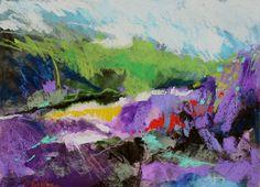 Oil Pastel Paintings   Rocky Creek, oil pastel painting by Carol Engles