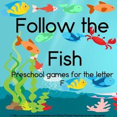 Follow the Fish, learning games for the letter F is ideal for preK - K students.  My students loved the fun game format!  TpT $
