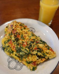 Cheesy Spinach and Black Garlic Omelet
