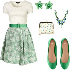 A fashion look from March 2012 featuring Topshop t-shirts, H&M flats and Off-White wallets. Browse and shop related looks.