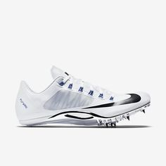 Nike Zoom Superfly R4 unisex track spike (mens sizing), White/Racer Blue/Black