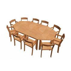 Krippenmöbelset Trapez-Rechtecktisch + 10 Stühle 22 cm mit Armlehne Sitzklasse 0