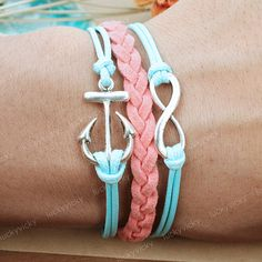 anchor and infinity bracelets