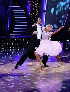 Kym Johnson & Joey Fatone dancing the Waltz.