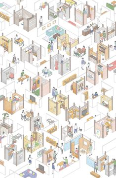 Isometric Sketch, Isometric Art, Isometric Design, Architecture Graphics, Architecture Drawings, Concept Architecture, Interior Design Layout, Map Design, Layout Design