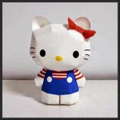 Hello Kitty Ver.4 Free Papercraft Download - http://www.papercraftsquare.com/hello-kitty-ver-4-free-papercraft-download.html