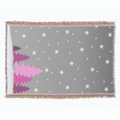 Wrap up with a blanket from Zazzle! Soft & warm throw, fleece, sherpa & decorative blankets and in a huge range of designs. Discover your perfect blanket today! Pink Christmas Tree, Christmas Fun, Holiday, Festivus, Yule, My Design, Blanket, Snow, Decor