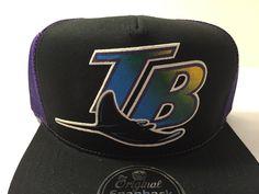 New Tampa Bay Devil Rays Trucker Snapback Hat Cap MLB Adjustable Adult Size Flat Bill