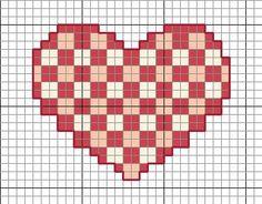 Valentines Cross Stitch Patterns via Hopeful Honey