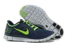 6467336dc132 Latest Listing Cheap Nike Free Run 3 Light Midnight Electric Green Pure  Platinum Mens Running Shoes Shop