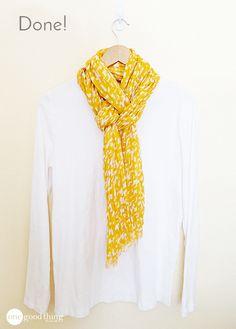 A Simply Pretty Way To Tie A Scarf! - One Good Thing by JilleePinterestFacebookPinterestFacebookPrintFriendly