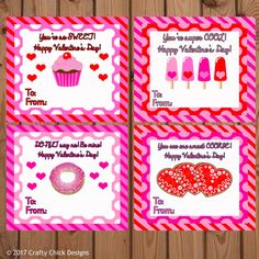 These cute cards are perfect to hand out in class or at a