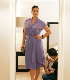 Plus size wrap dress sewing pattern.    We love this dress with it's elegant silhouette and clean look. It can also be shortened to make a top.