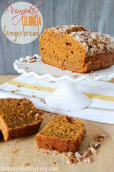 Pumpkin Quinoa Gingerbread