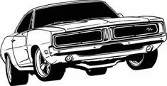 1969 Dodge Charger Vinyl Cut Out Decal, Sticker - Choose your Color an – Vinyl Ink. Decals and Graphics