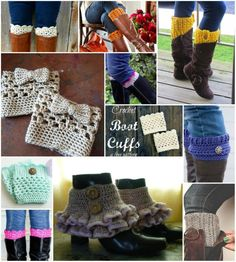 Knitting Patterns Animals Fab Art DIY Free Crochet Boot Cuffs Patterns Round Up Crochet Boat, Cute Crochet, Crochet For Kids, Crochet Lace, Crochet Hammock, Crochet Girls, Crochet Boot Cuff Pattern, Hat Patterns, Models