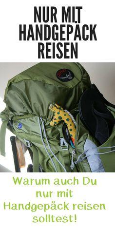 Pinterest Reisen nur mit Handgepäck Rucksack Leichtes Gepäck kein Koffer Flugzeug Minimalismus